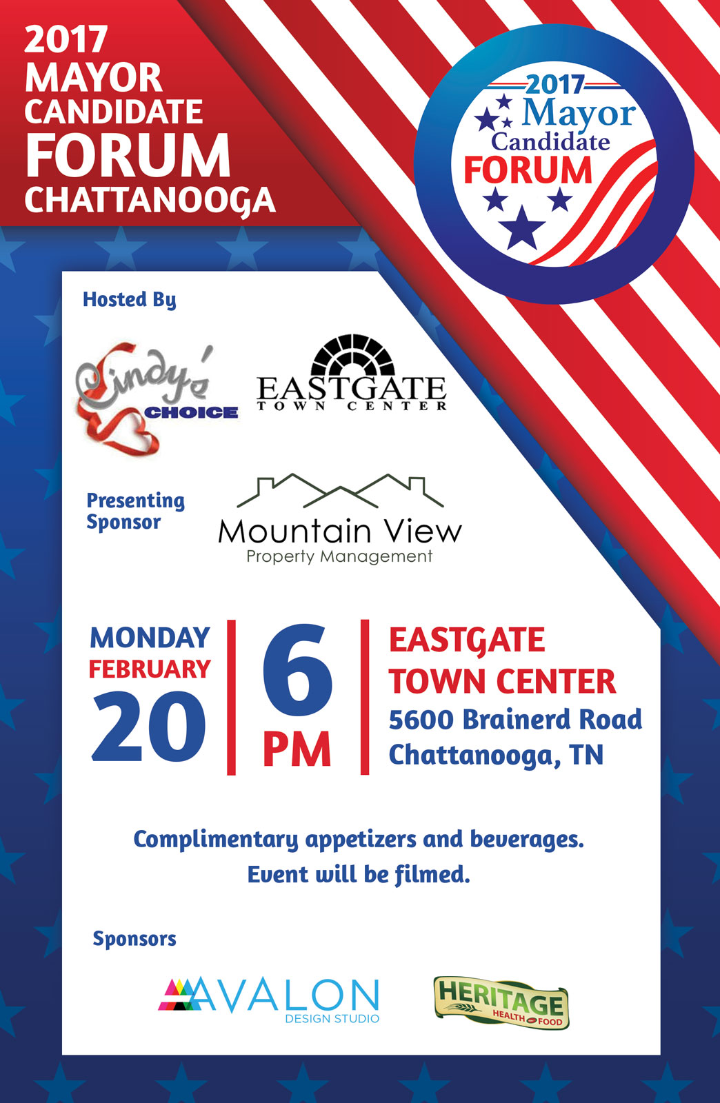 Eastgate Town Center - Chattanooga 2017 Mayor Candidate Forum Event