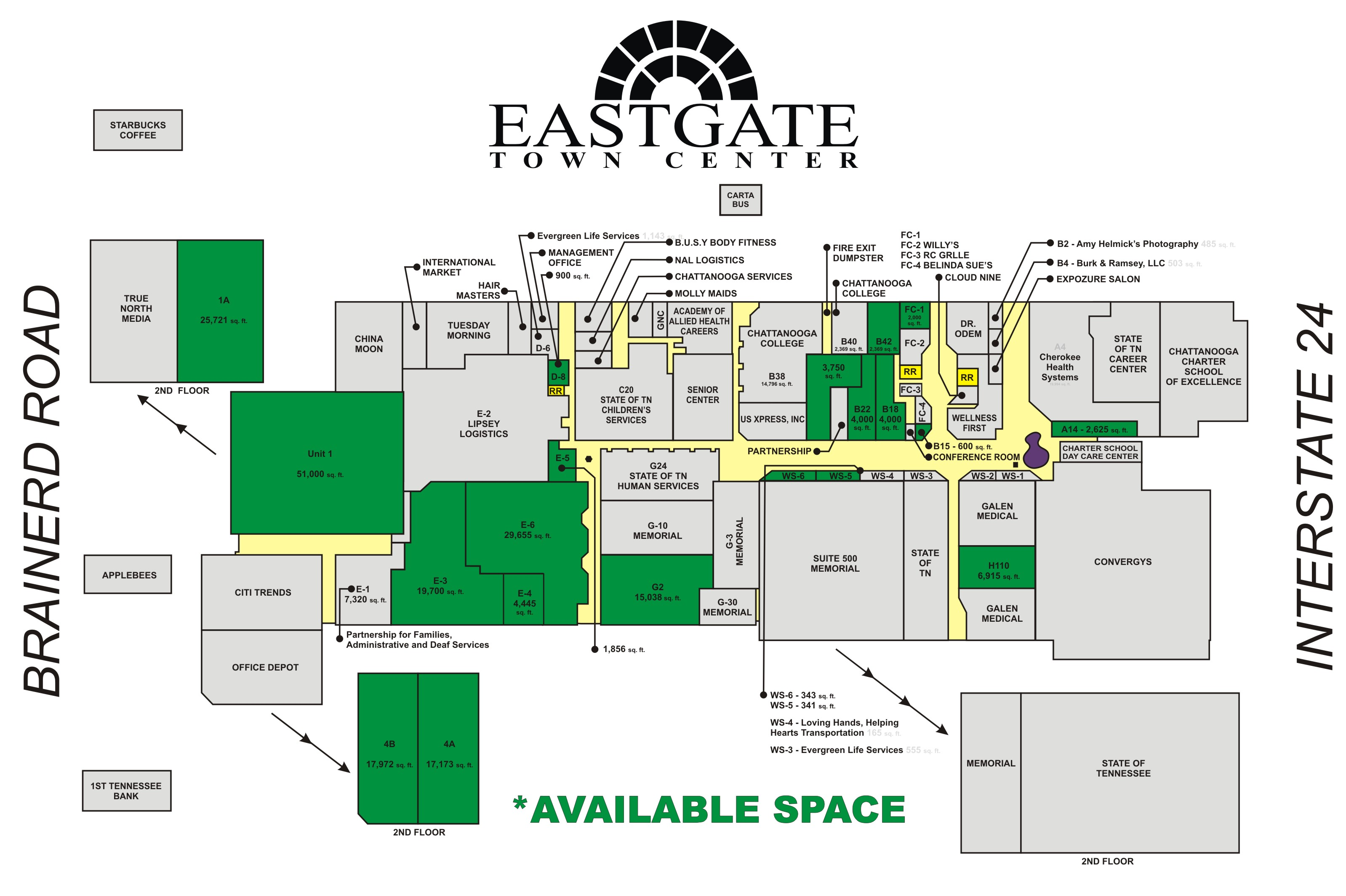 Eastgate Town Center - Facilities Layout